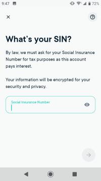 Enter your Social Insurance Number