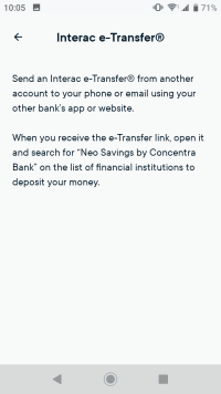Instructions for sending yourself an Interac e-Transfer