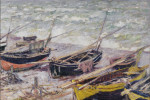 Thumbnail for Fishing Boats at Étretat, 1885, Claude Monet.
