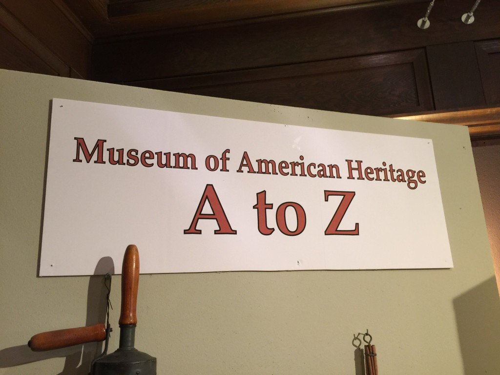 A to Z Exhibit Sign