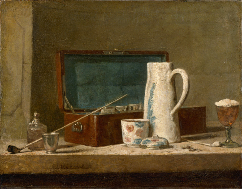 Jean-Siméon Chardin, Pipes and Drinking Pitcher, 1737