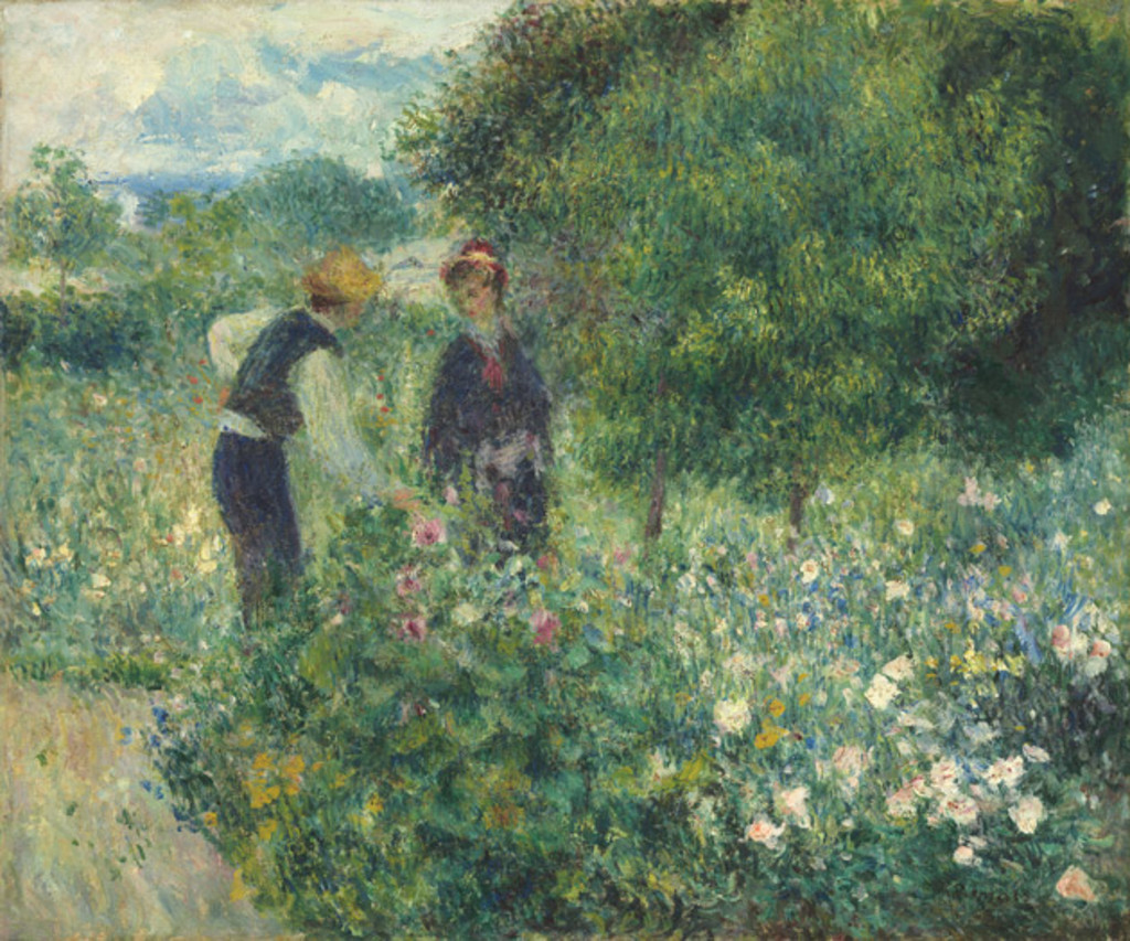Picking Flowers, 1875, Auguste Renoir.