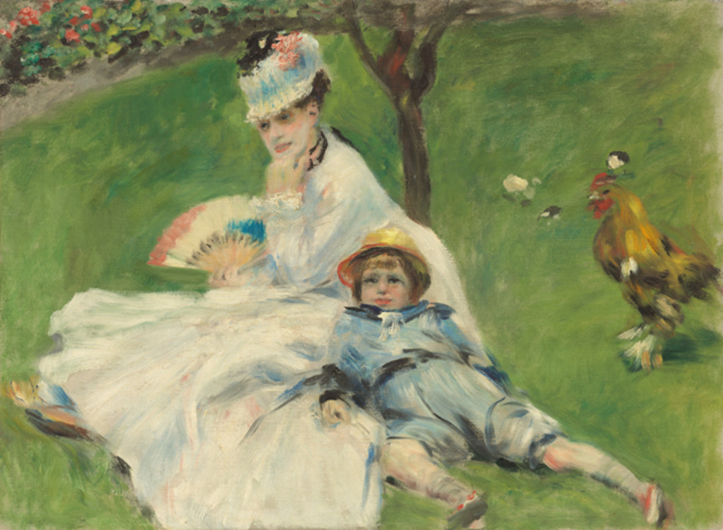 Madame Money and her Son, 1874, Auguste Renoir.