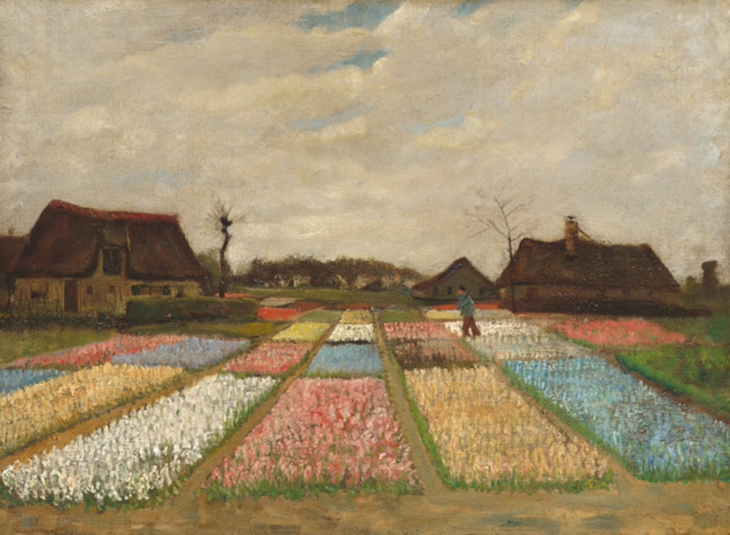 Flower Beds in Holland, CA. 1883, Vincent Van Gogh.