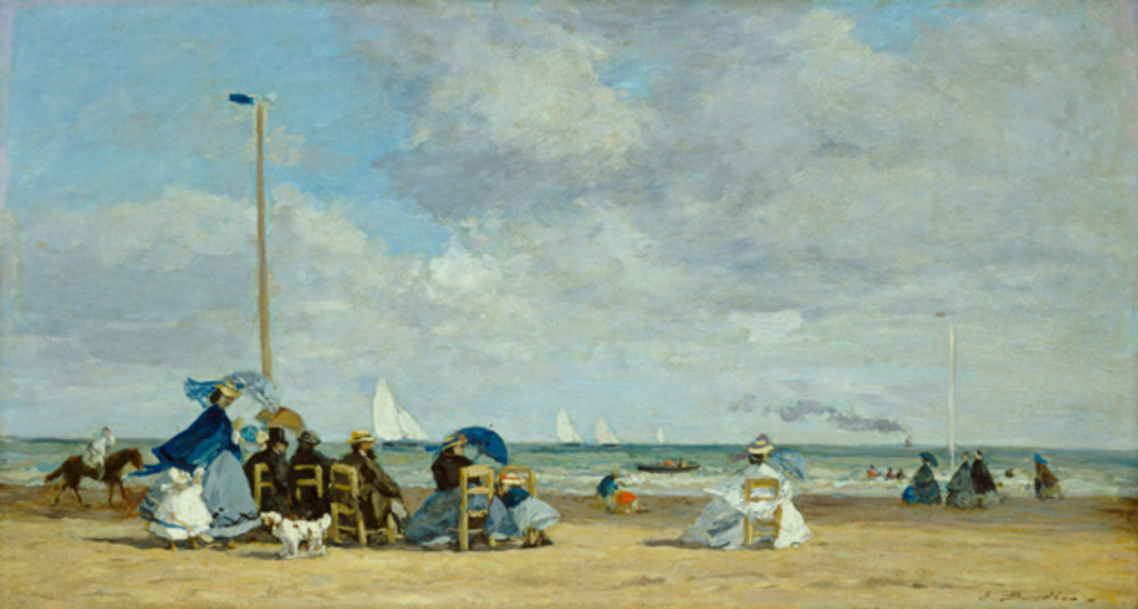 Beach Scene at Trouville, 1863, Eugène Boudin.