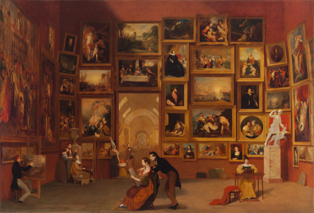 Gallery of the Louvre, 1831-33, Samuel F. B. Morse.