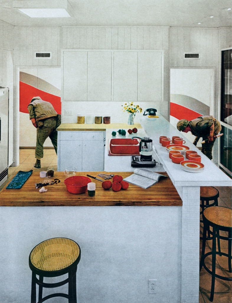 Red Stripe Kitchen, 1967-72, Martha Rosler.