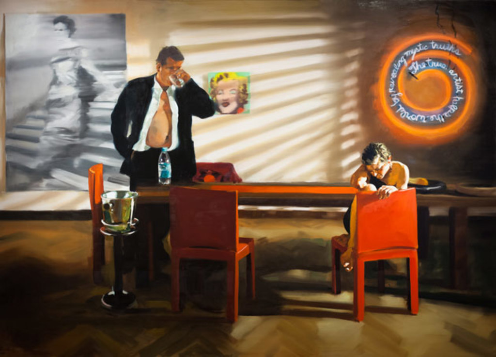 Keeled Project, Dining Room, Scene #2, 2003, Eric Fischl.