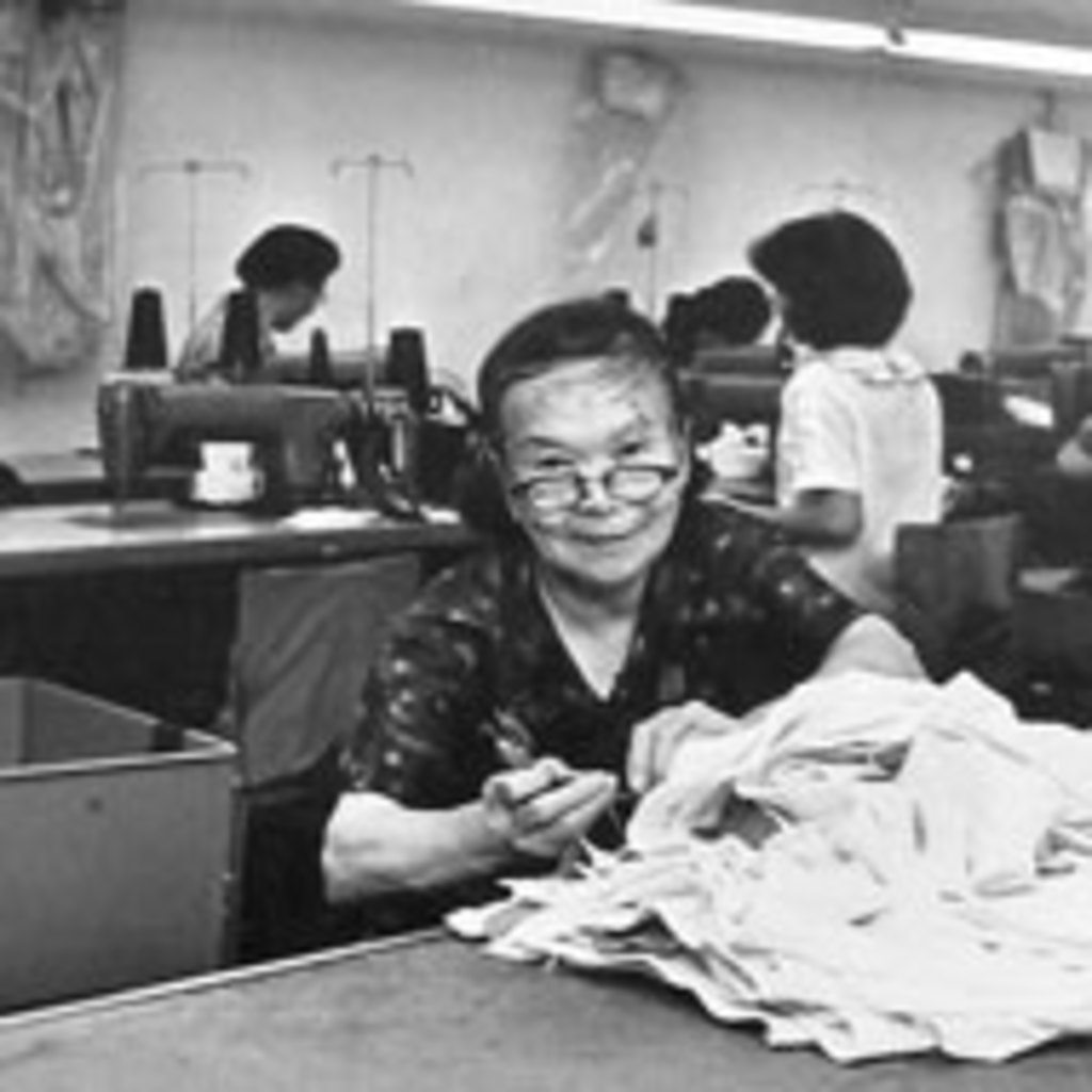 Chinese Woman Fabric Worker