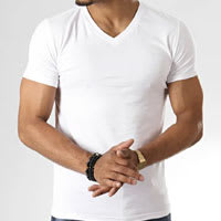 V-neck tshirt for man