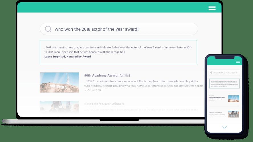 Desktop and mobile screens