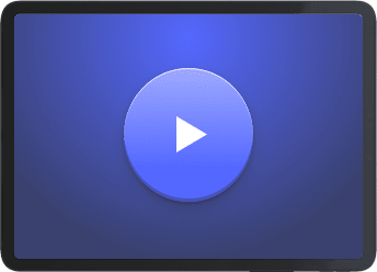 iPad illustration containing a play button