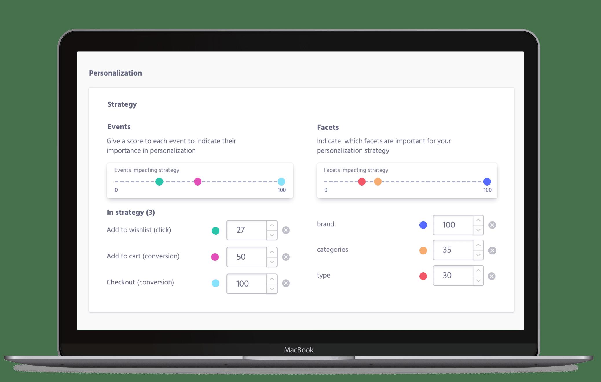Screenshot of Personalization Strategy