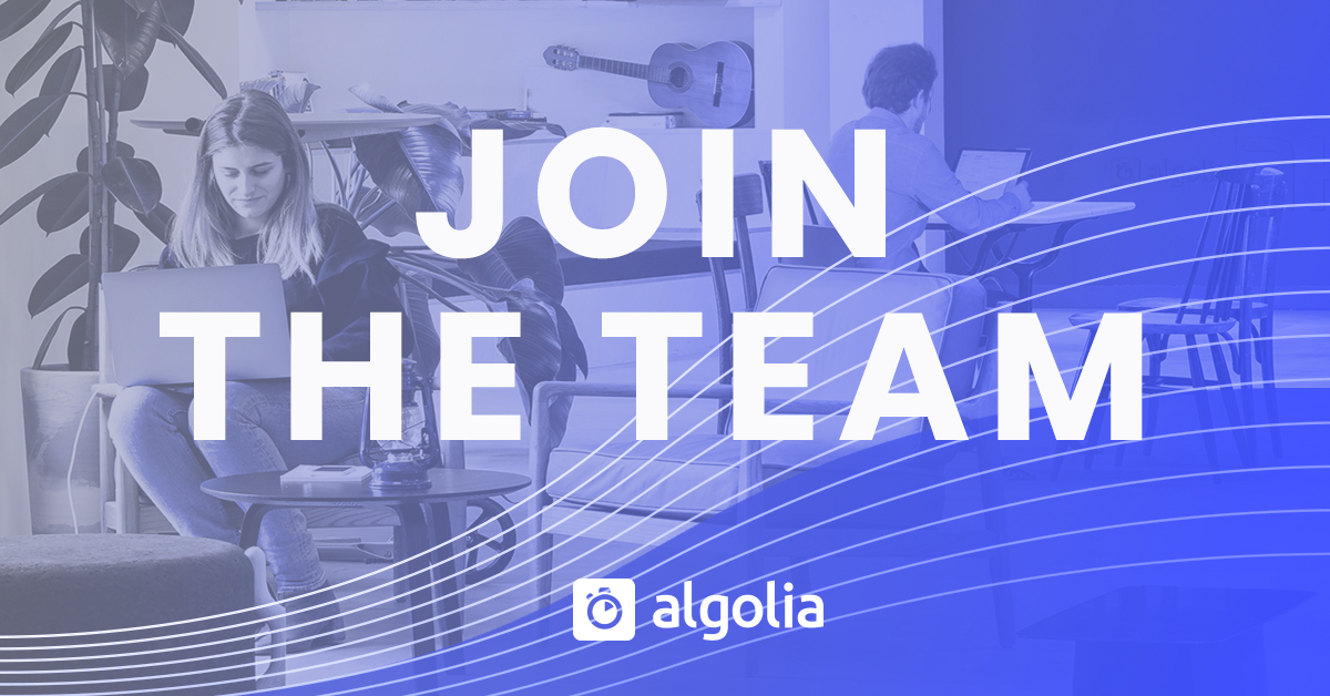 Careers and jobs world wide | Algolia