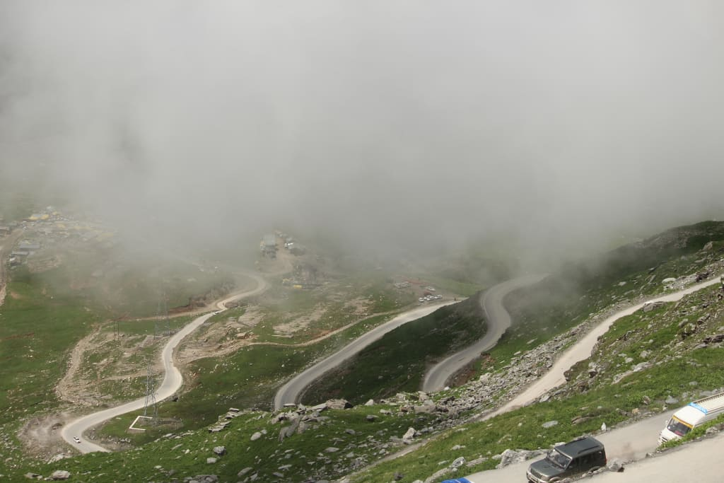 Way To Manali Rohtang Pass chandratal