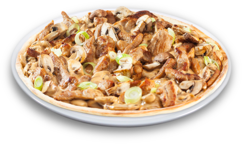 Schnitzelpizza Solo 25 cm<sup>F,V</sup>