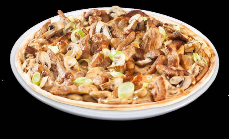 Schnitzelpizza Solo 25 cm<sup>A,F</sup>