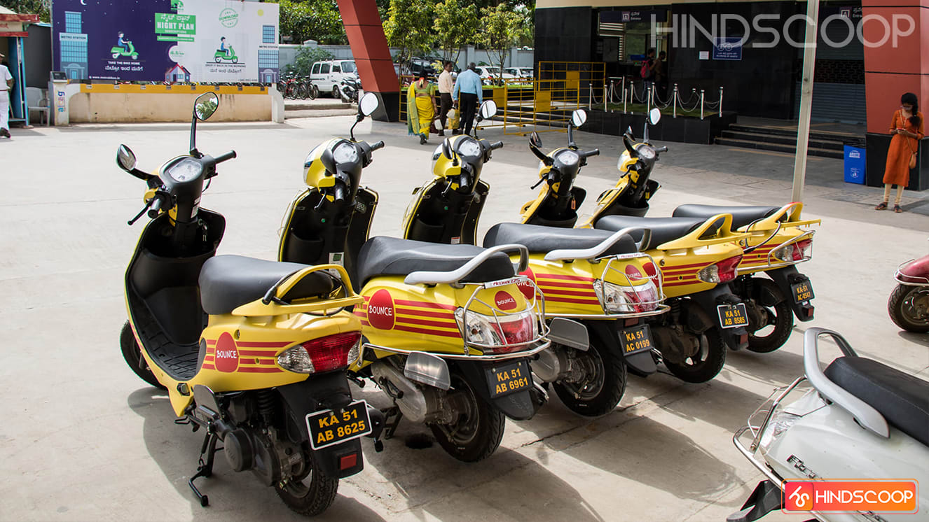 Bounce the scooter rental startup has been leader in Bangalore