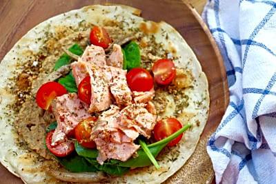 How to Make Salmon Za'atar Flatbread