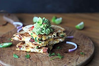 Recipe: Chicken and Chorizo Quesadillas with Guacamole