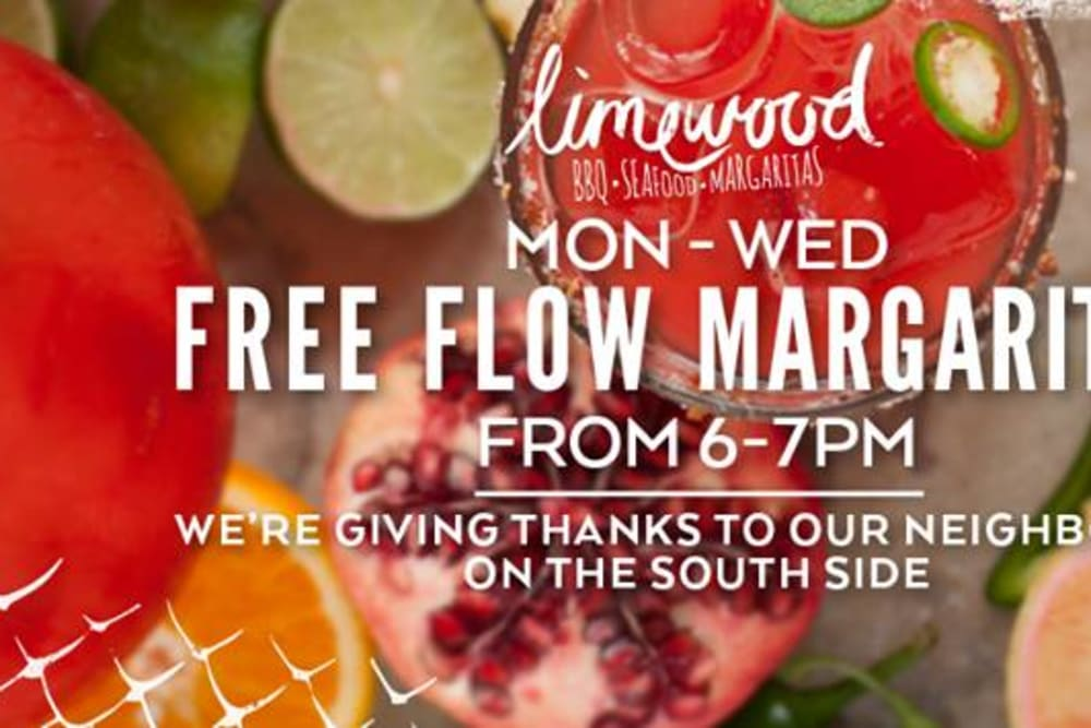 Cocktail Hour at Limewood and Kids Eat for Free