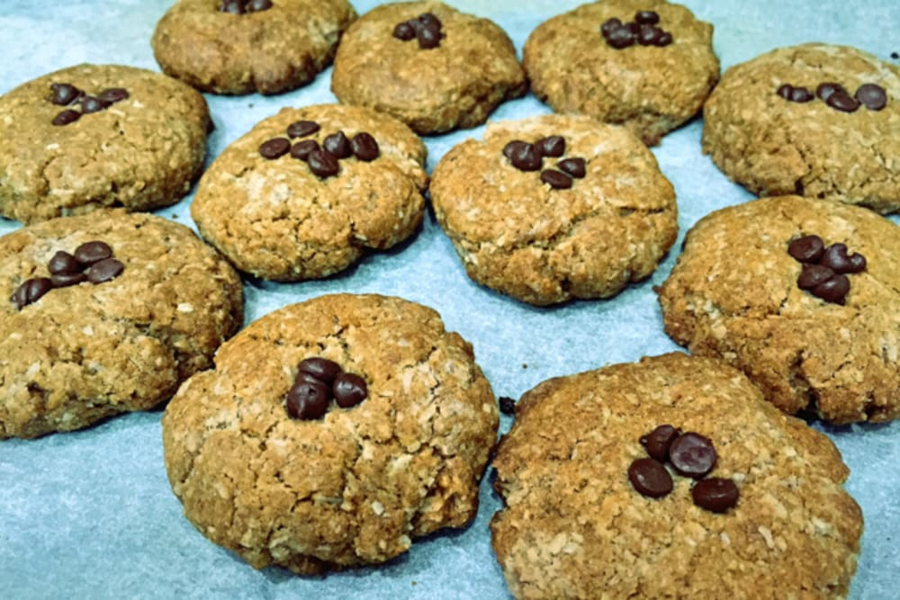 Peppermint Coconut Cookies