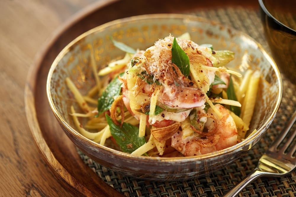 RECIPE: Prawns with Herb Sauce and Coconut Cream
