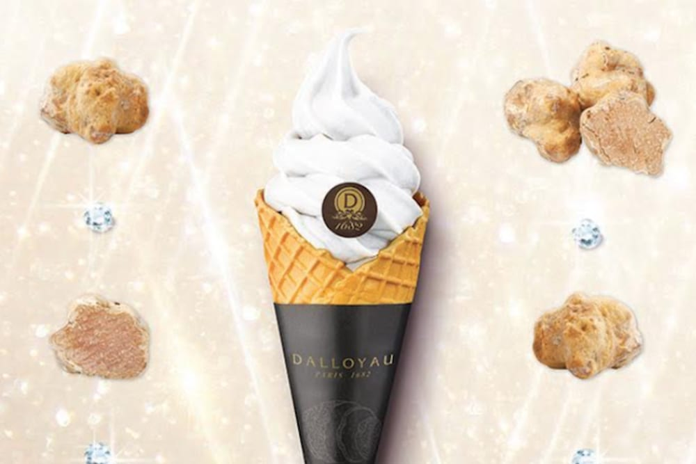 White Truffle Soft-Serve Ice Cream at DALLOYAU