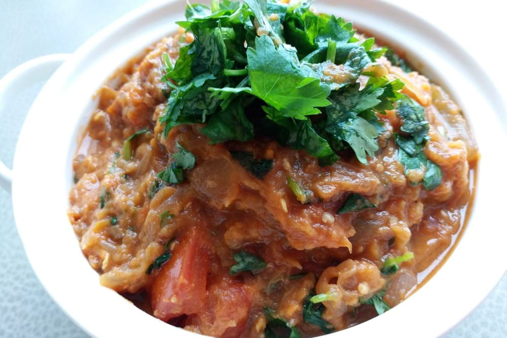 Indian Vegan Delights Recipe: Baingan Bharta