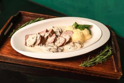 Recipe: Baked European Pork Tenderloin with Black Truffle Cream Sauce
