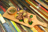 Recipe: Delicious Roast European Pork Collar Chop, Thai Style