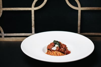 Capellini with Carrot Bolognese