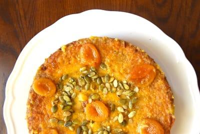 RECIPE: Almond Apricot Cardamom Cake