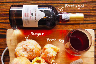 波特酒與港式小食的配合。