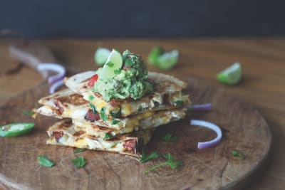 Recipe: Chicken and Chorizo Quesadillas with Guacamole