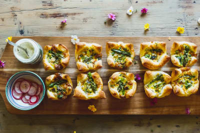 Recipe: Mini Spring Vegetable Quiches