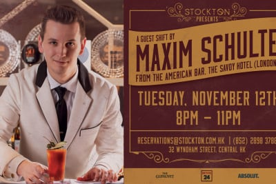 Guest Bartender Maxim Schulte (American Bar, London) at Stockton
