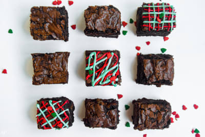 12 Days of Christmas Cookies: Baileys Chestnut Brownies