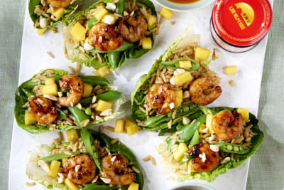 Lee Kum Kee Recipe: Char Siu Prawn, Mango and Rice Lettuce Cups