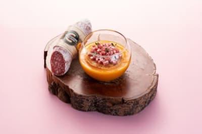 Recipe: Pumpkin Soup with Salamini Italiani alla Cacciatora PDO