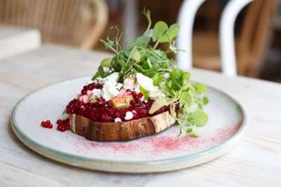 Recipe: Avobar's Beetroot Hummus Toast