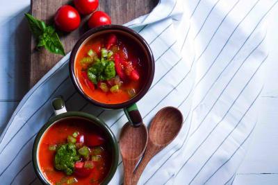RECIPE: Gazpacho with Pesto