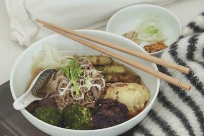 Recipe: Soba Noodles in Gingery Fennel Kombu Broth