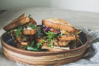 Recipe: Cheesy Artichoke with Purple Slaw Sandwich