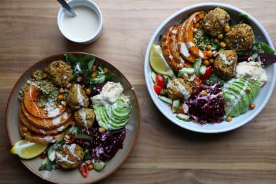 Recipe: Vegan Falafel Buddha Bowls