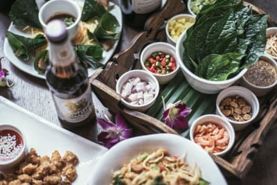 New Happy Hour: Pouches of Joy and Goodness at Moon Thai