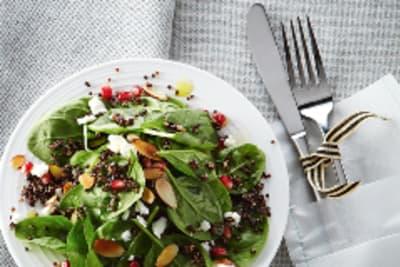 Recipe: Pomegranate, Almond and Feta Salad