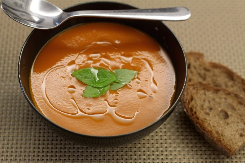 Tomato Soup with Basil Oil