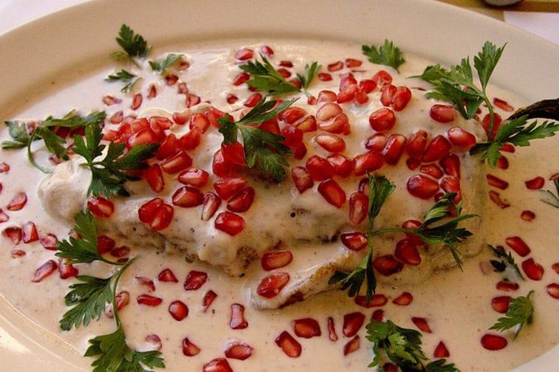 Vegetarian Enchiladas en Nogada Recipe