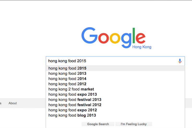 What Were 2015's Most Googled Foods in Hong Kong?